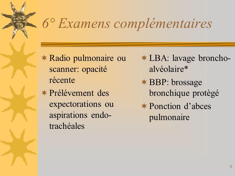 6° Examens complémentaires