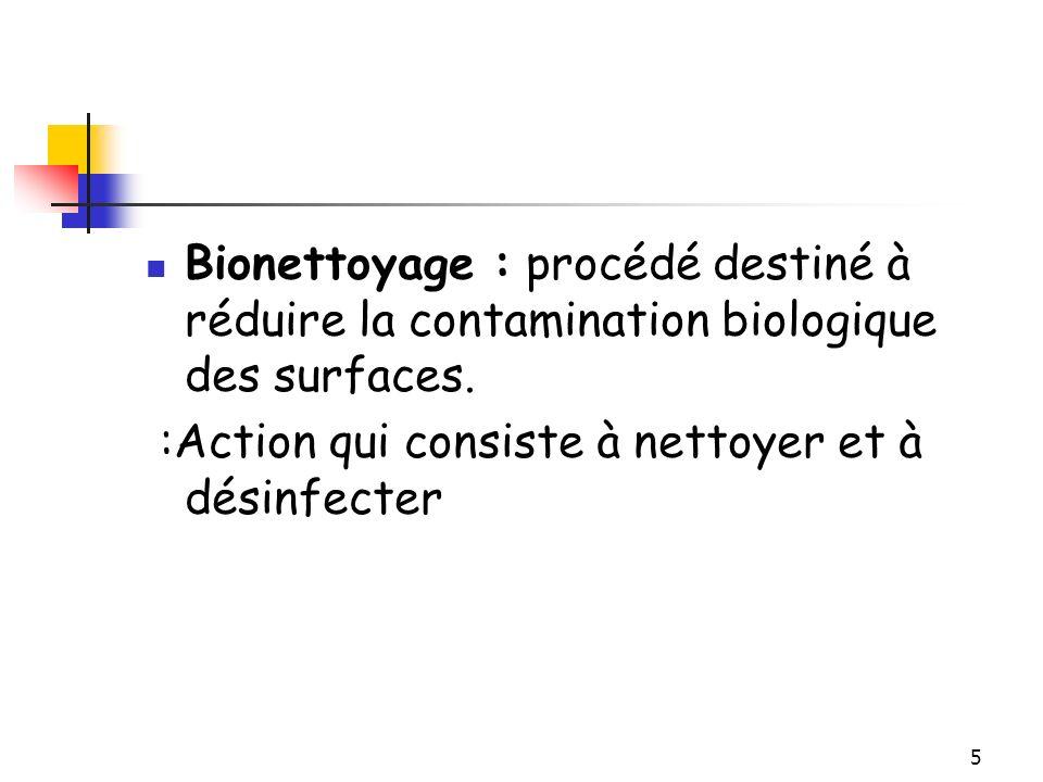 Bionettoyage : procédé destiné à réduire la contamination biologique des surfaces.