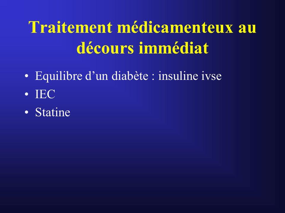 Traitement médicamenteux au décours immédiat