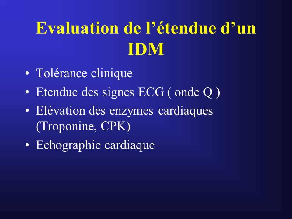 Evaluation de l'étendue d'un IDM