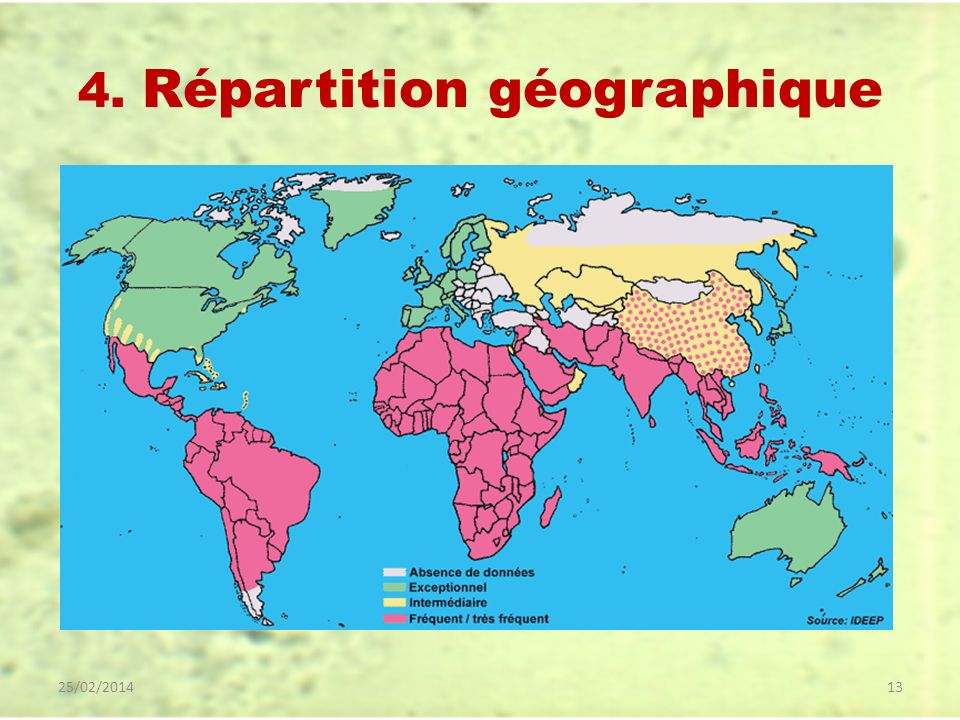 4. Répartition géographique