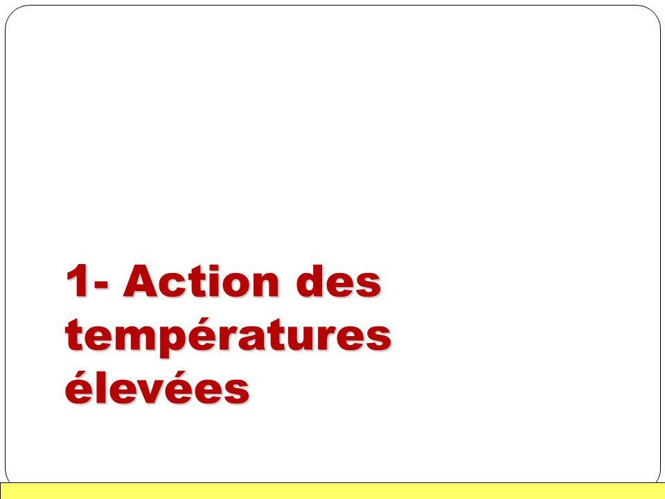 1- Action des températures élevées