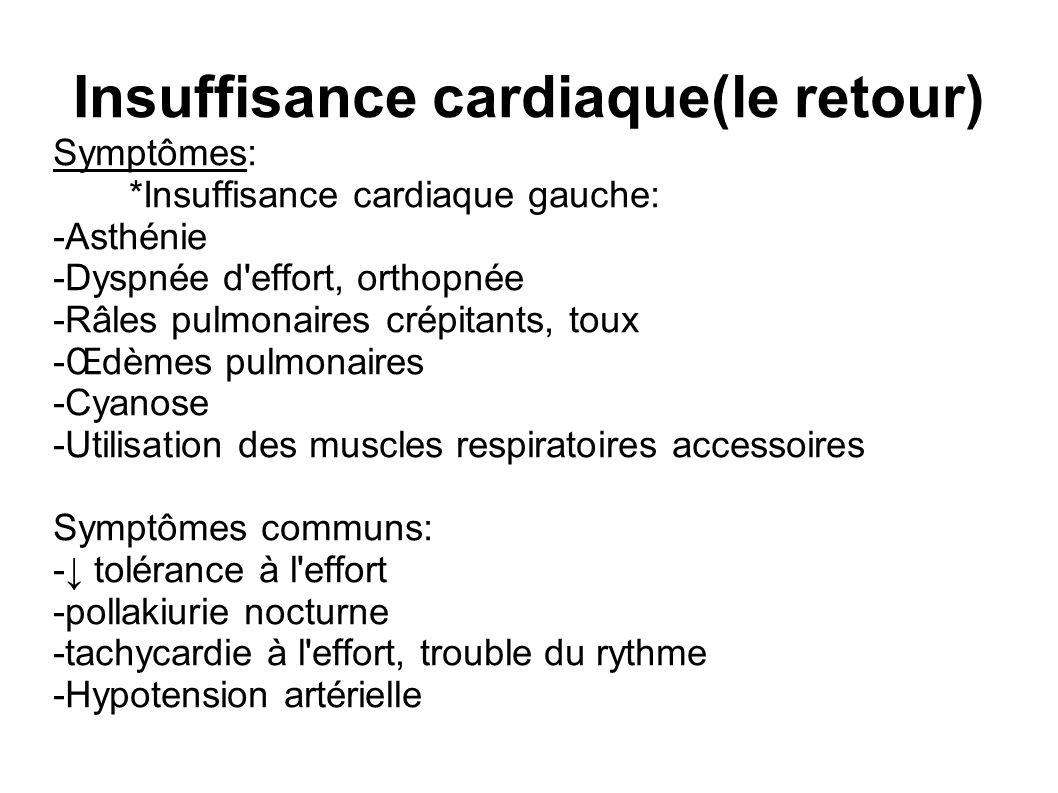 Insuffisance cardiaque(le retour)