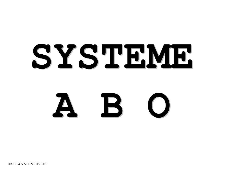 SYSTEME A B O IFSI LANNION 10/2010