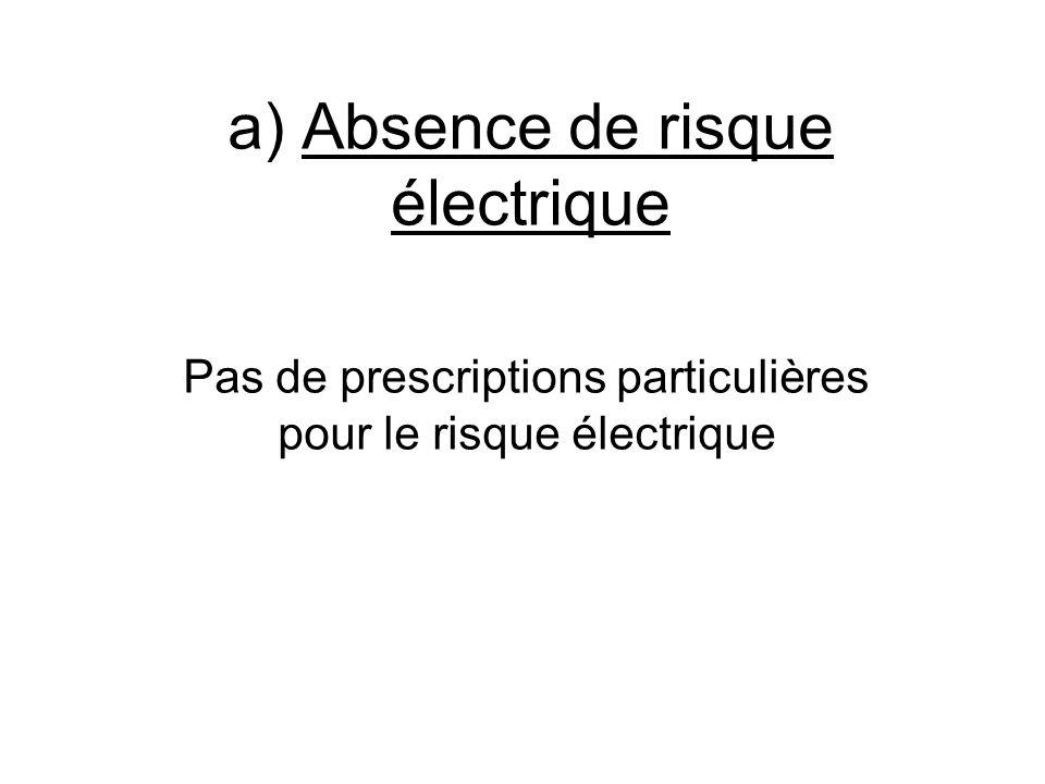 a) Absence de risque électrique