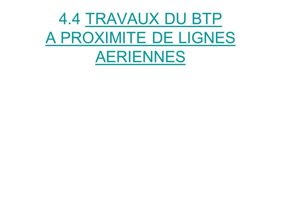 4.4 TRAVAUX DU BTP A PROXIMITE DE LIGNES AERIENNES