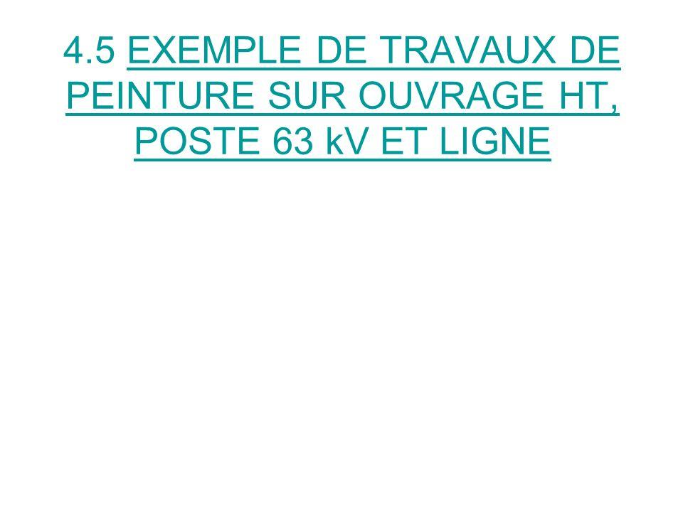 4.5 EXEMPLE DE TRAVAUX DE PEINTURE SUR OUVRAGE HT, POSTE 63 kV ET LIGNE