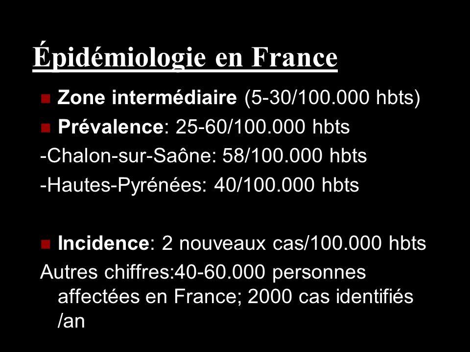 Épidémiologie en France