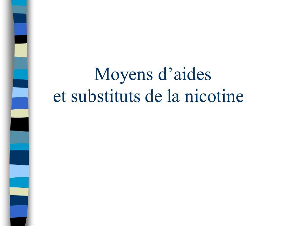 Moyens d'aides et substituts de la nicotine