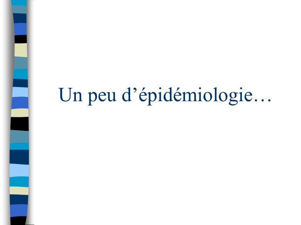 Un peu d'épidémiologie…