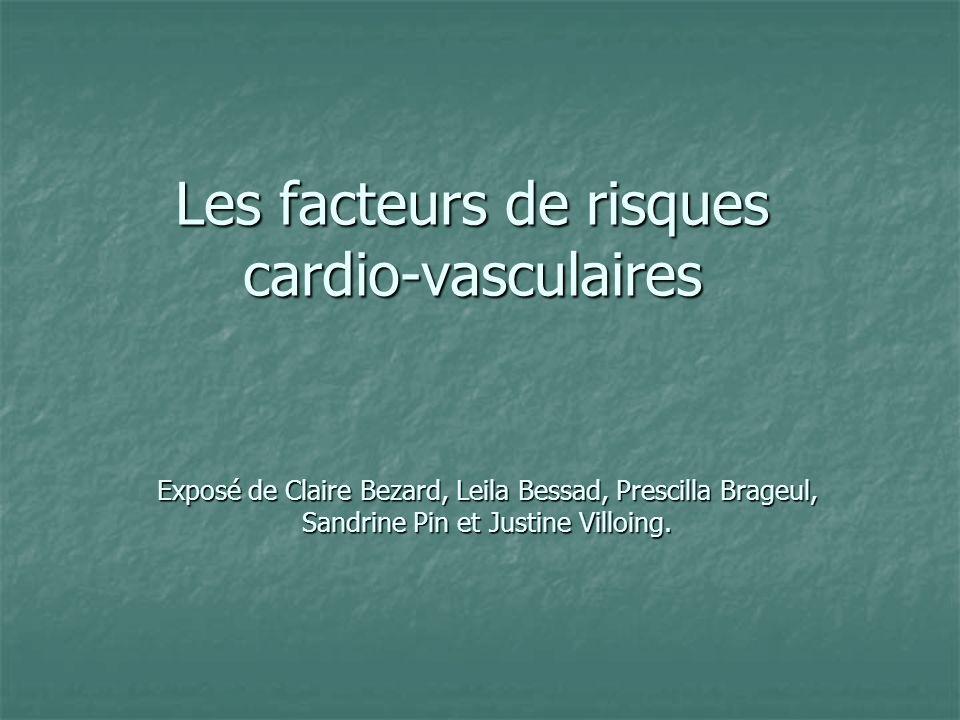 Les facteurs de risques cardio-vasculaires