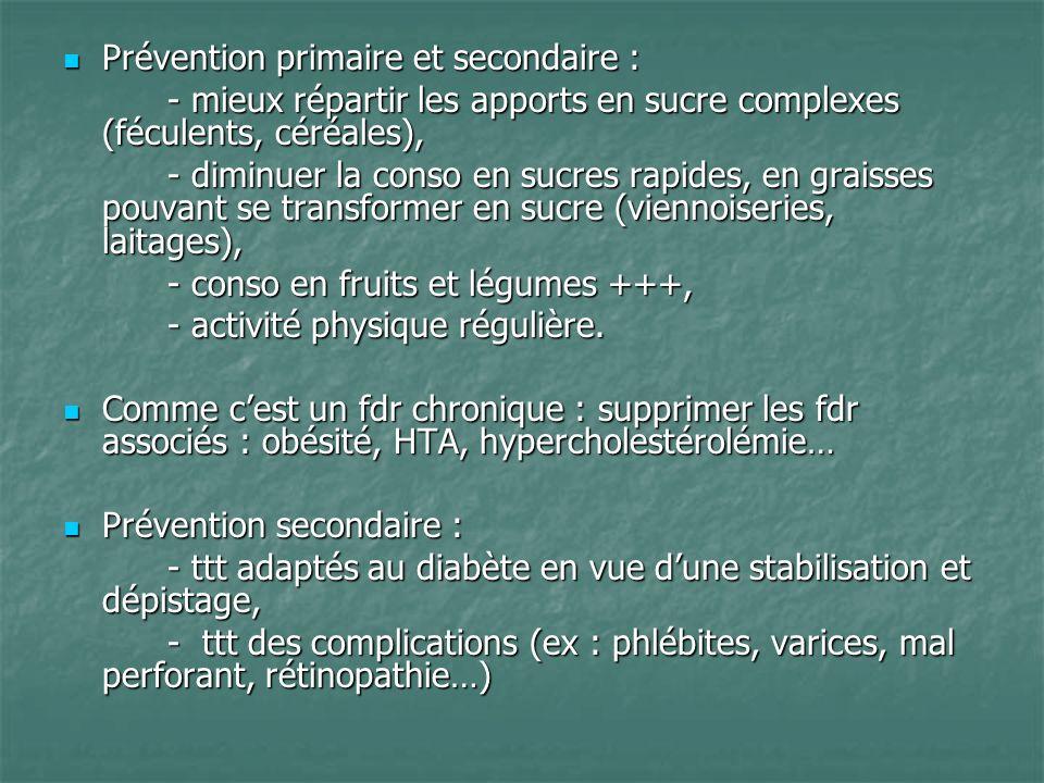 Prévention primaire et secondaire :