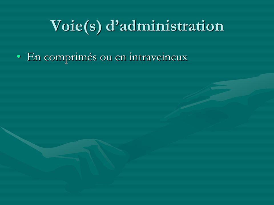 Voie(s) d'administration
