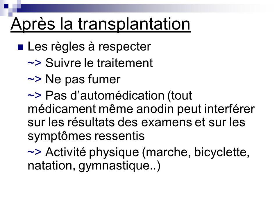 Après la transplantation