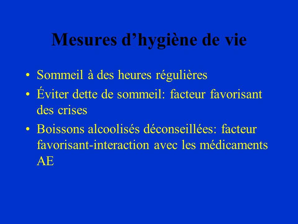 Mesures d'hygiène de vie