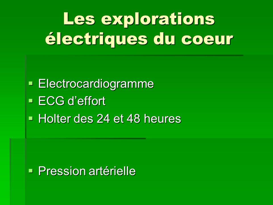 Les explorations électriques du coeur