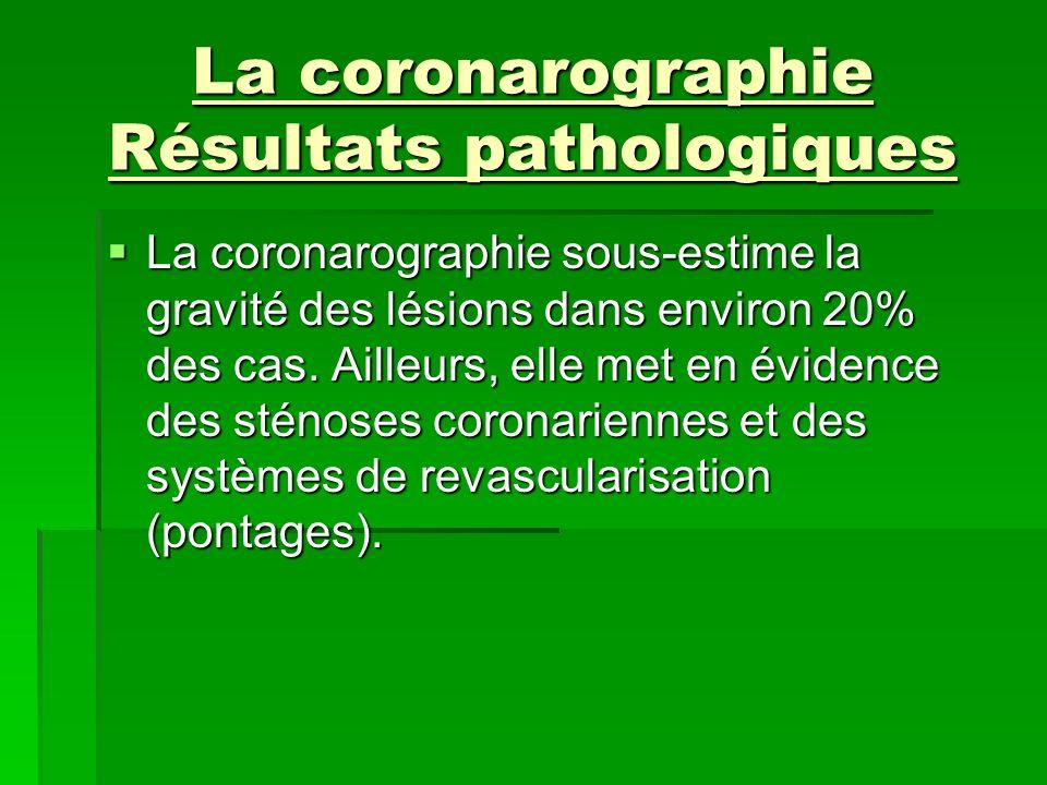 La coronarographie Résultats pathologiques