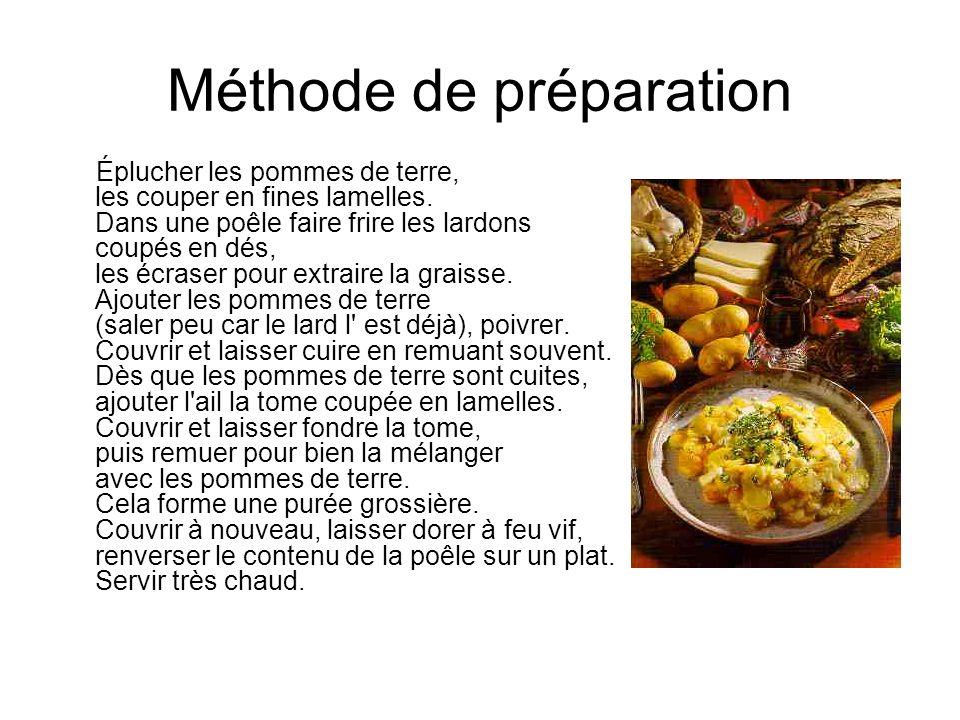 Méthode de préparation