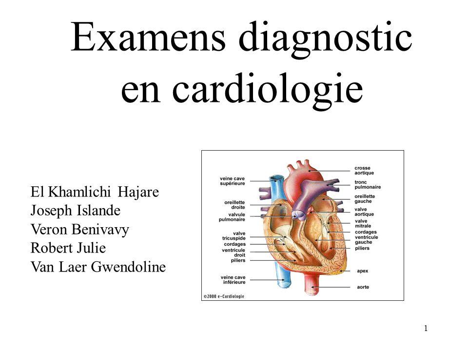 Examens diagnostic en cardiologie