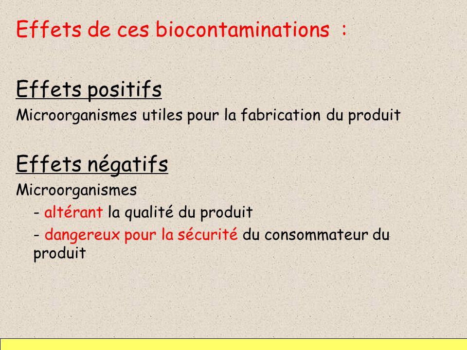Effets de ces biocontaminations : Effets positifs