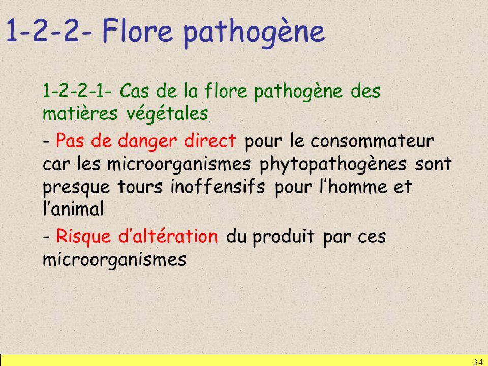 1-2-2- Flore pathogène