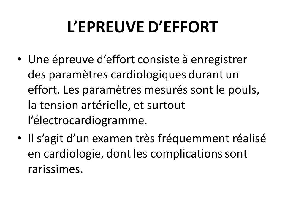 L'EPREUVE D'EFFORT