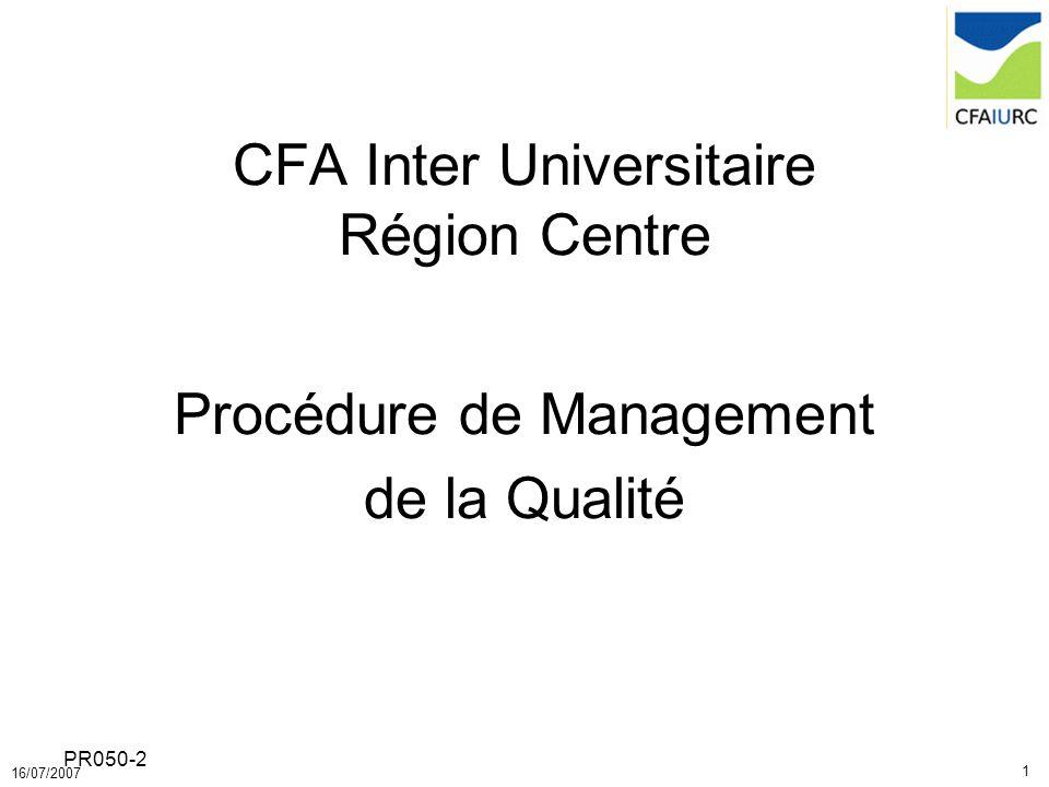 CFA Inter Universitaire Région Centre