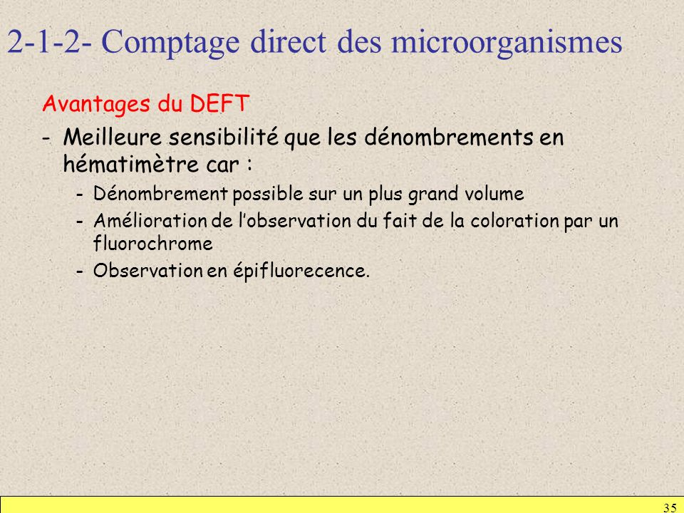 Comptage direct des microorganismes