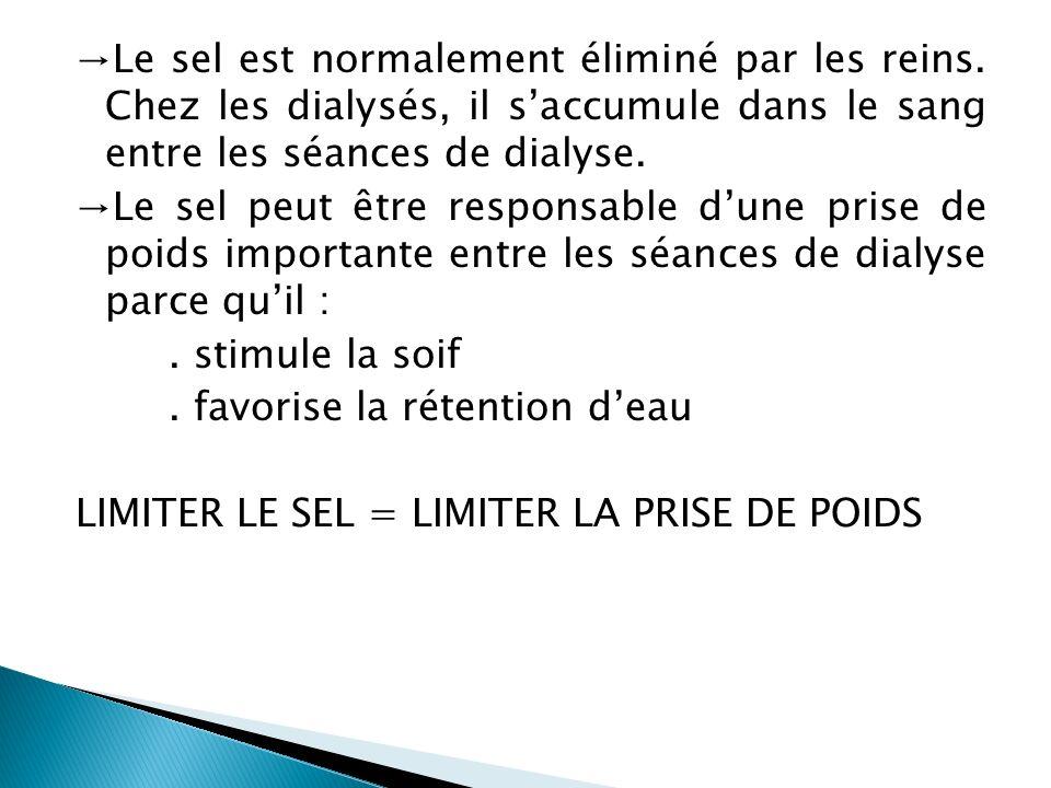 →Le sel est normalement éliminé par les reins