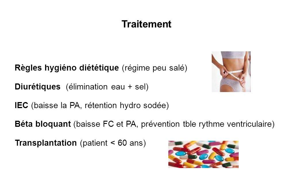 Traitement Règles hygiéno diététique (régime peu salé)