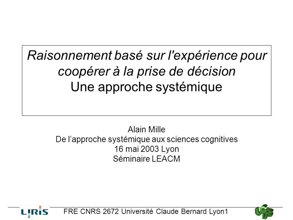 De l'approche systémique aux sciences cognitives