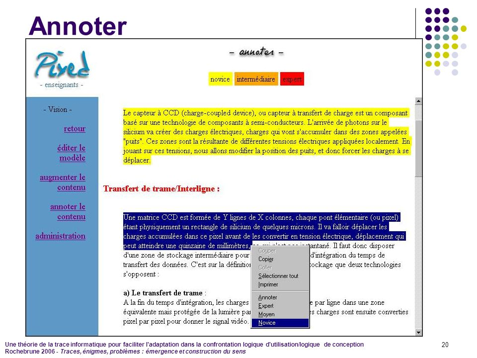 Annoter This is a screenshot of the first annotation tool inside an XML document.