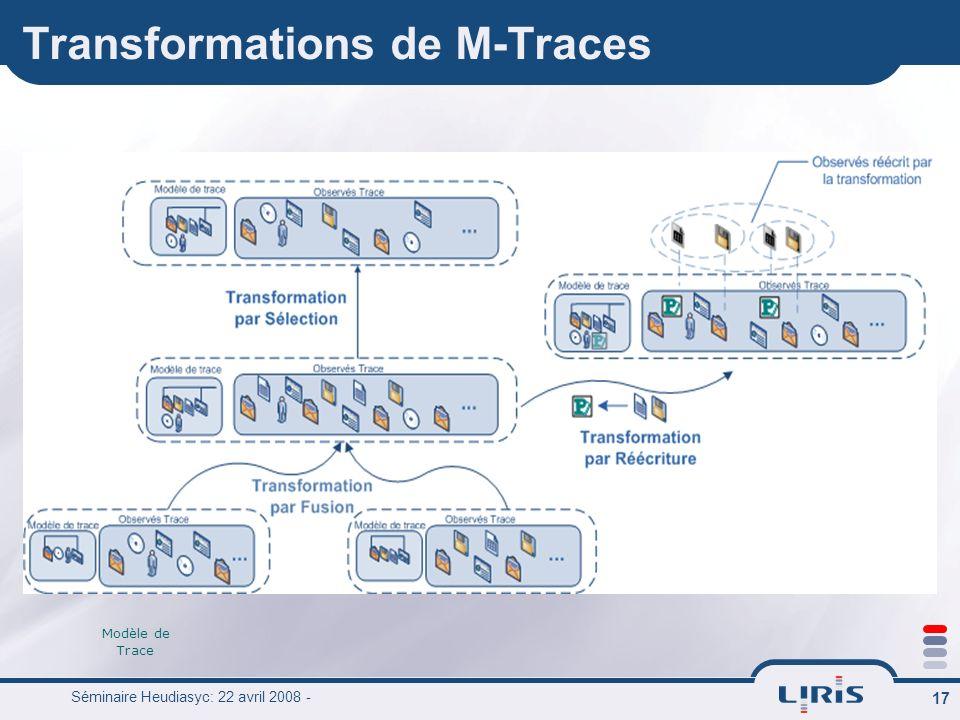 Transformations de M-Traces