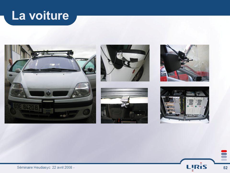 La voiture Séminaire Heudiasyc: 22 avril 2008 -