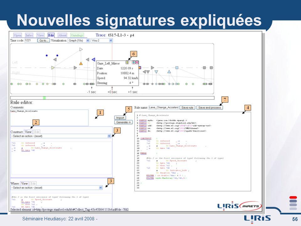 Nouvelles signatures expliquées