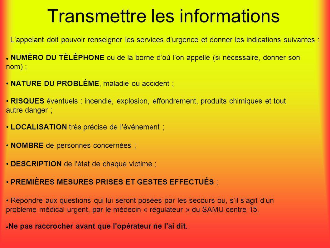 Transmettre les informations