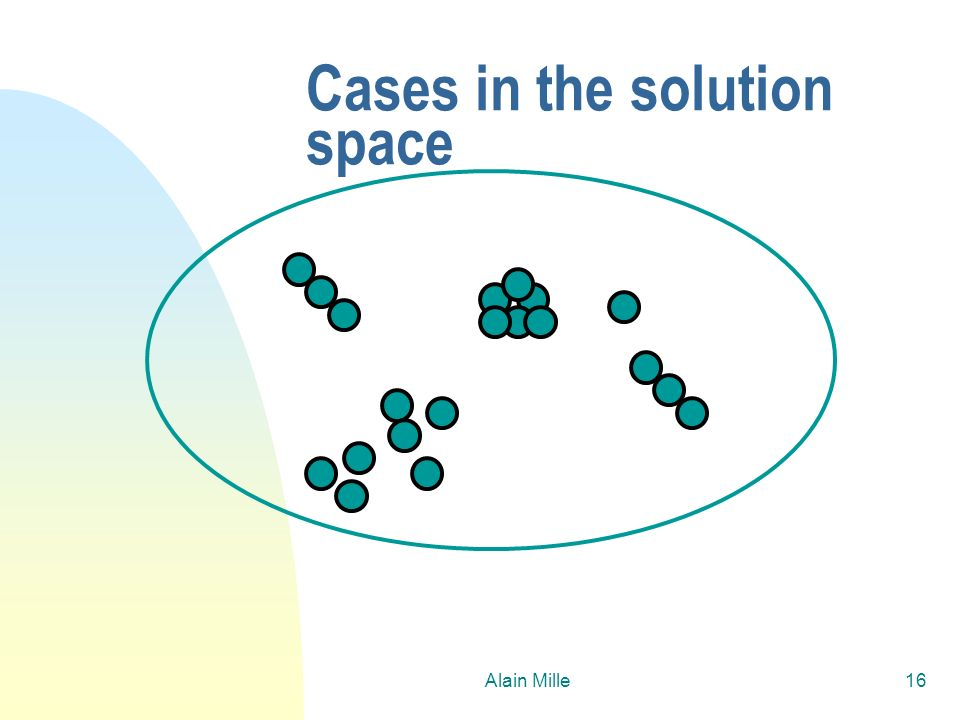 Cases in the solution space