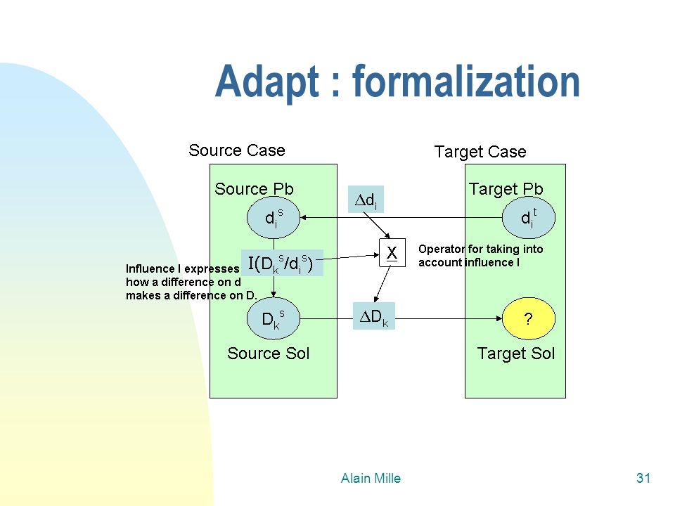 26/03/2017 Adapt : formalization Alain Mille