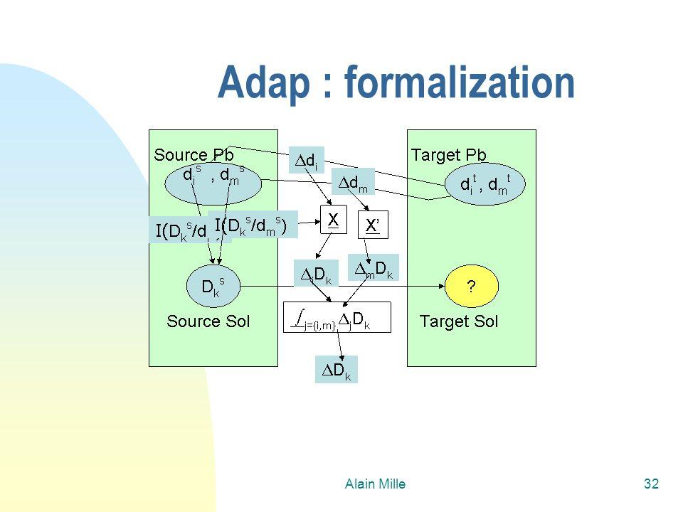 26/03/2017 Adap : formalization Alain Mille