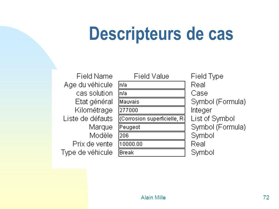 26/03/2017 Descripteurs de cas Alain Mille