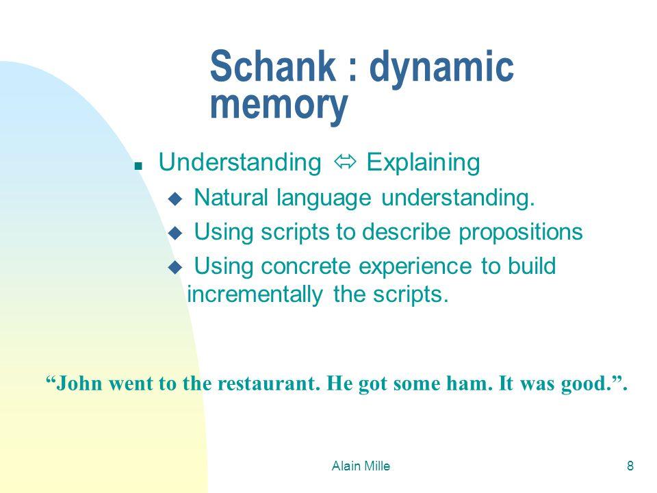 Schank : dynamic memory