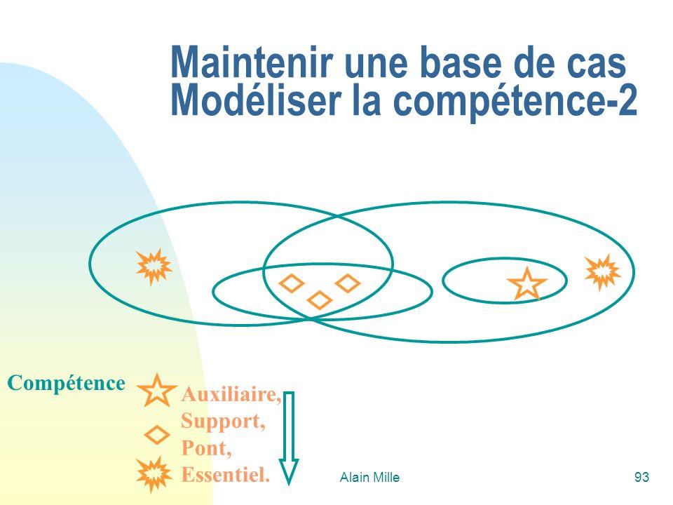 Maintenir une base de cas Modéliser la compétence-2