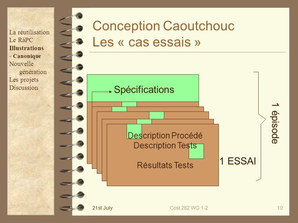 Conception Caoutchouc Les « cas essais »