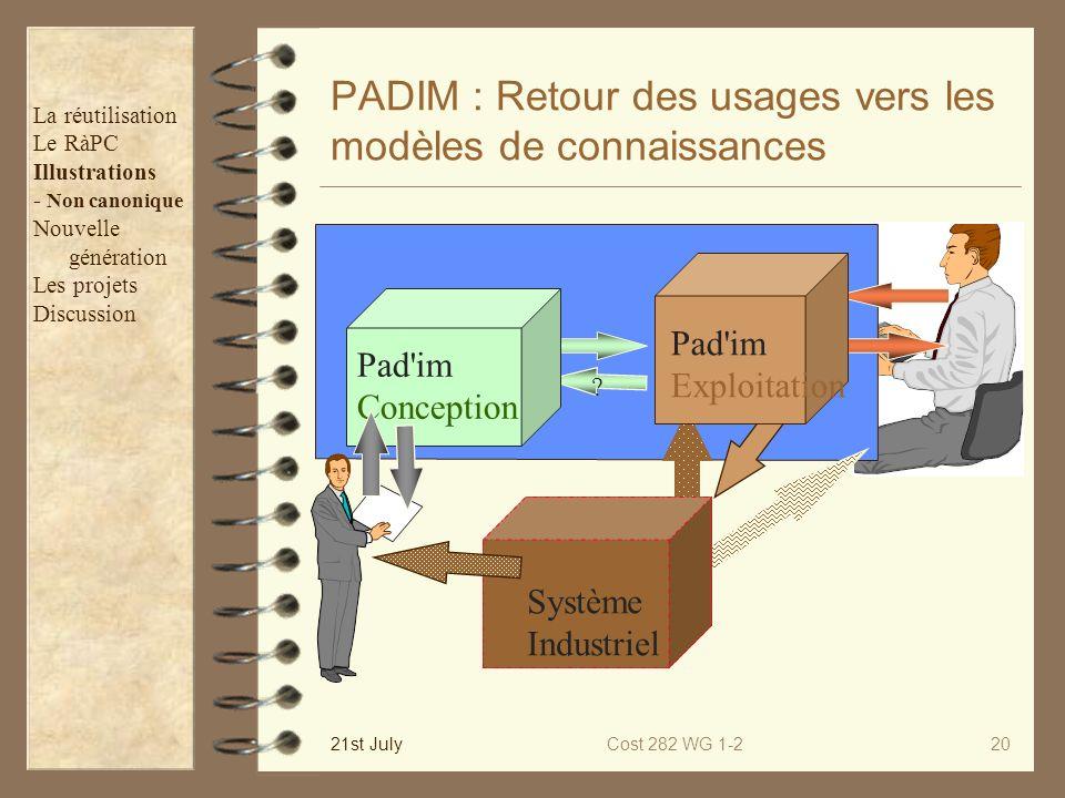 PADIM : Retour des usages vers les modèles de connaissances