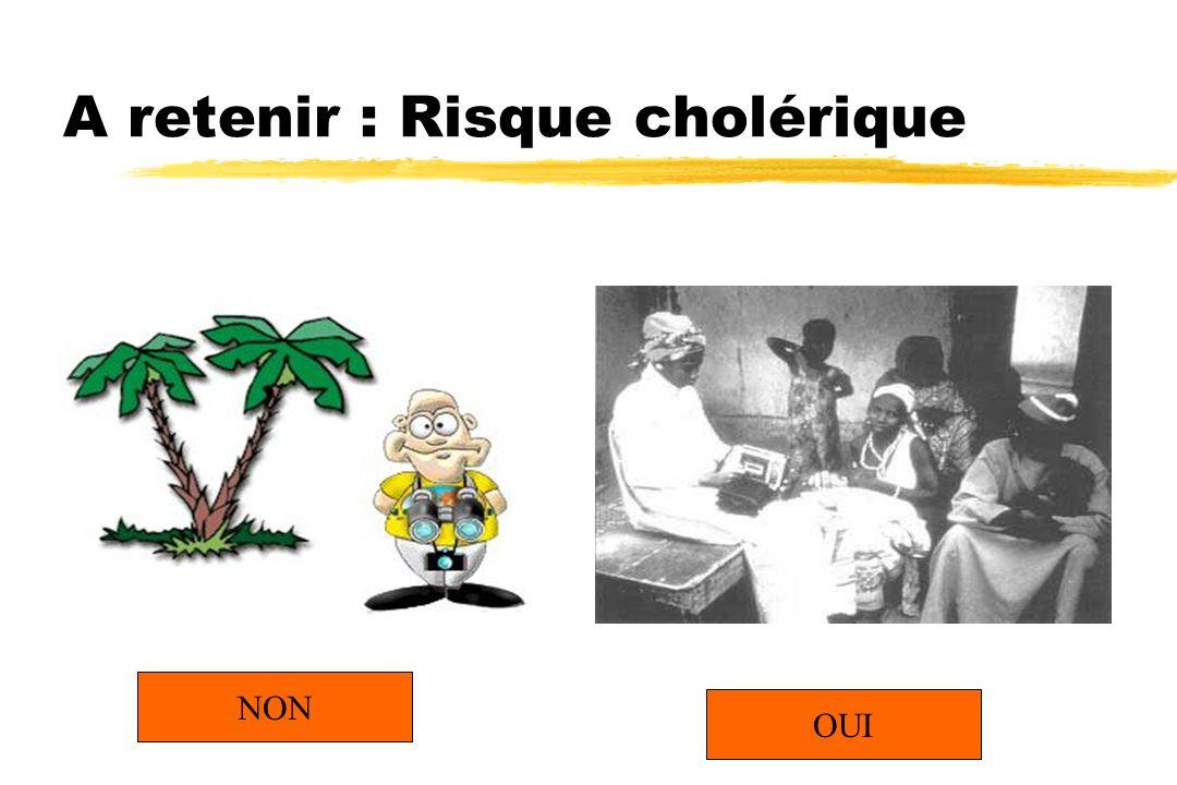 A retenir : Risque cholérique