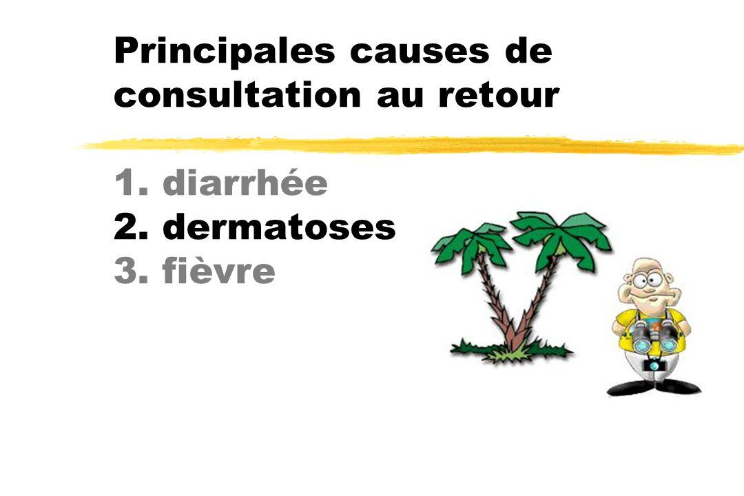 Principales causes de consultation au retour 1. diarrhée 2