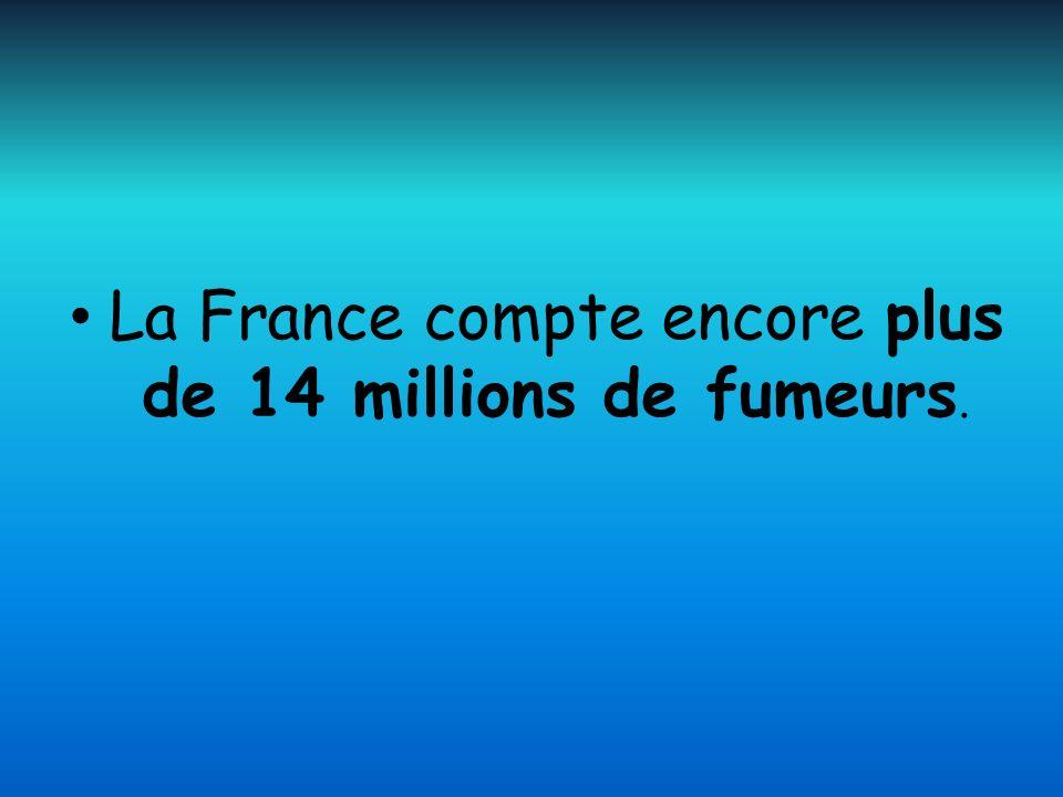 La France compte encore plus de 14 millions de fumeurs.
