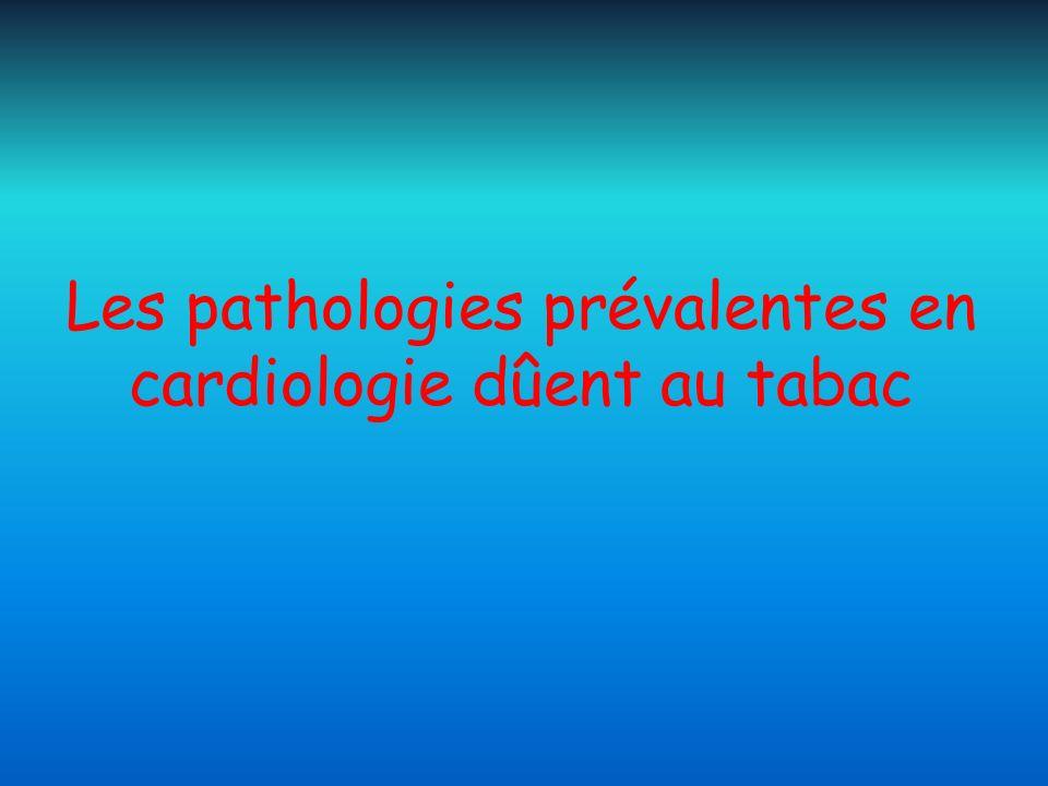 Les pathologies prévalentes en cardiologie dûent au tabac