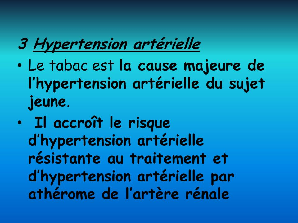 3 Hypertension artérielle