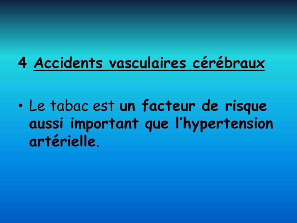 4 Accidents vasculaires cérébraux